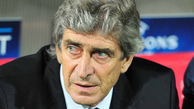 Manchester City boss Manuel Pellegrini insists he does not feel under-pressure ahead of the Manchester derby