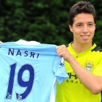 French midfielder Samir Nasri played a big part in Manchester City's 2-0 Champions League win at Roma last night