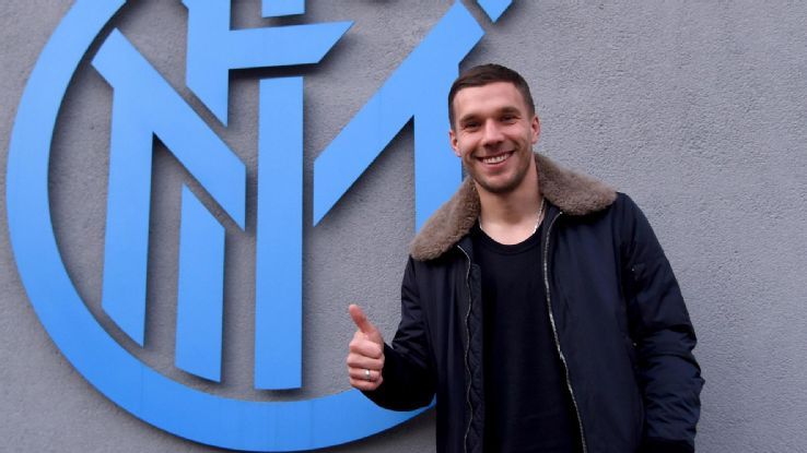 Internazionale Milano manager Roberto Mancini has Lukas Podolski wants to return to Arsenal when his loan expires at the end of the season.