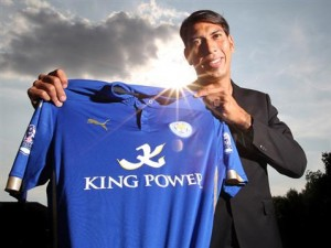 Leonardo Ulloa was Leicester City's hero as they strengthened their grip on first place