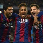 Barcelona's strike-force of Lionel Messi, Luis Suarez and Neymar probably make them favourites to progress to Champions League final