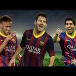 Barcelona attacking trio Lionel Messi, Neymar and Luis Suarez have combined superbly this season