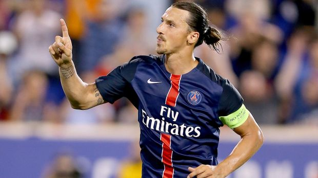 Paris Saint-Germain striker Zlatan Ibrahimovic has moved to end speculation about his future at the club by insisting he is happy at the Parc des Princes.