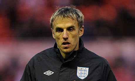 Former England international Phil Neville has started in his role as Valencia assistant manager