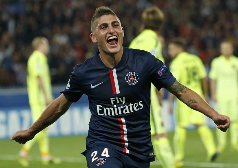 The agent of Paris Saint-Germain midfielder Marco Verratti, Donati Di Campli, has insisted his client is happy at the Parc des Princes amid reports linking him with a move to Barcelona.
