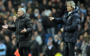 Manchester City's Manuel Pellegrini locks horns with old adversary Jose Mourinho on Sunday at the Etihad Stadium