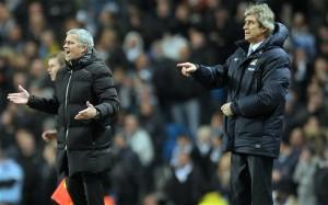 Manchester City's Manuel Pellegrini locks horns with old adversary Jose Mourinho on Sunday at the Etihad Stadium