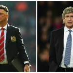 Manchester United and Manchester City bosses Louis van Gaal and Manuel Pellegrini go head-to-head at Old Trafford on sunday afternoon