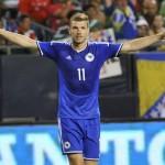 Bosnia captain saves his team against Ireland / Image via thetimes.co.uk