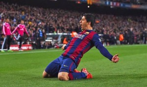 Barcelona's Luis Suarez is the side's top scorer this season.