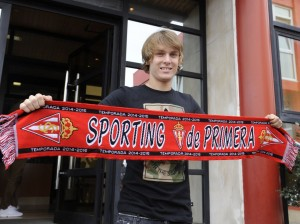 Barca starlet on loan at Sporting Gijon - Image via tirbunnews.com