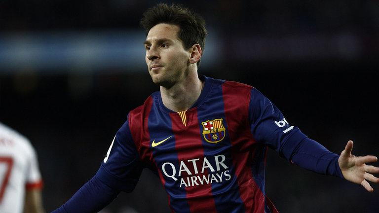 Messi enjoying his return from injury / Image via skysports.com