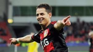 Chicharito enjoying his time at Leverkusen / Image via bild.de