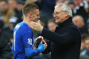 Jamie Vardy scored one of the goals of the season to give his side the lead against Liverpool on Tuesday evening