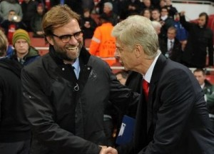 No bad blood between two managers / Image via mirror.co.uk
