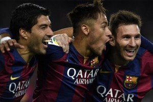 Luis Suarez, Neymar and Lionel Messi have scored 103 goals between them this season.