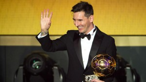 Barcelona star Lionel Messi has now won the Ballon d'Or five times