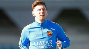 Lionel Mess scored twice in Barcelona's 2-0 win at Arsenal in the last-16 Champions League first leg on Tuesday night