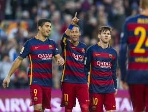 Arsenal will have to stop Barcelona's deadly trio of LIonel Messi, Luis Suarez and Neymar to make the last eight of the Champions League