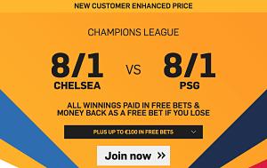 Chelsea vs PSG - 8/1 Betting Odds on Chelsea or PSG - Soccer News