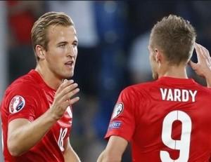Kane and Vardy lead the line for England / Image via eurosport.com
