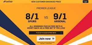 Spurs vs Arsenal Betfair_opt