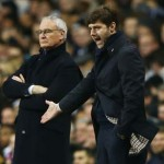 Tottenham manager Mauricio Pochettino (right) needs a perfect finish to stand a chance of glory.