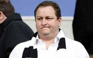 Newcastle owner Mike Ashley has revealed that the clubs bank account is nearly empty