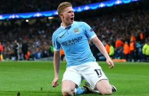 De Bruyne's beauty sends City through / Image via theguardian.com