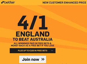 england v australia betting odds
