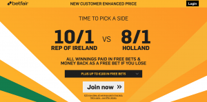 Ireland vs Holland