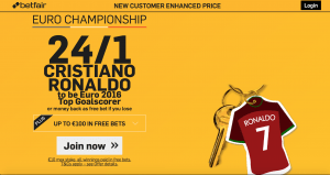 Ronaldo Euro promo