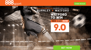 Burnley v Watford promo opt 300x166 Burnley vs Watford: 8/1 Betting Odds on Hornets