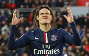 Cavani scored one, but missed four clear-cut chances