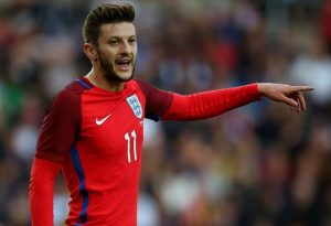 Match-winner Lallana with his first goal for England / Image via Skysports.com