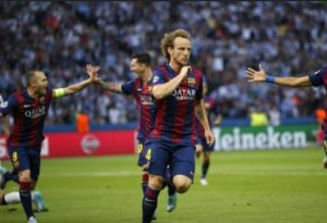 Rakitic's opener cancelled by Correa who earns Atletico a draw at Camp Nou