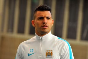 Manchester City striker Sergio Aguero will miss the Manchester derby after picking up a three-match ban