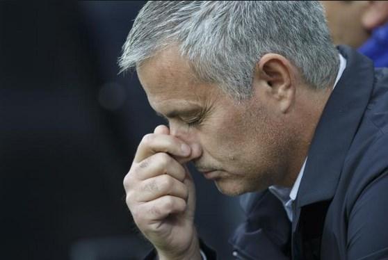 Not the best of 'home comings' for Mourinho / Image via bleacherreport.com