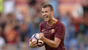 Edin Dzeko has been in impressive form for Roma as of late. Photo courtesy of Sky Sports
