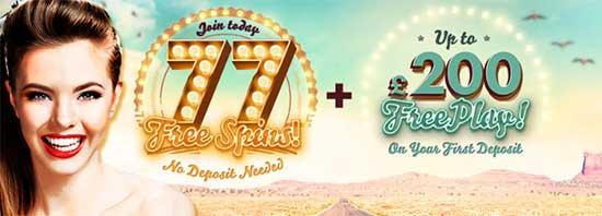 777 - 77 Free Spins + 200 Bonus