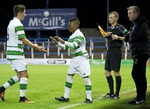 Karamoko Dembele making history both for Scotland and Celtic / Image via dailymail.co.uk