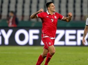 Mitrovic ruins it for Wales / Image via dailymail.co.uk
