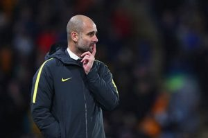 Guardiola visited Anfield on Tuesday to spy on Liverpool / Image via dailystar.co.uk