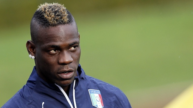 Italian striker Mario Balotelli has been in form since joining France club Nice