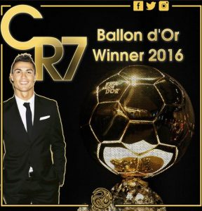 Ballon d'Or winner 2016 / Image by SoccerNews.com