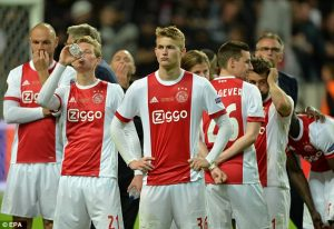 Ajax's young stars disappointed to lose the Europa League final