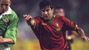 Luis Figo in the 1994 Under-21 Championship