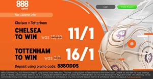 Chelsea vs Tottenham enhanced odds