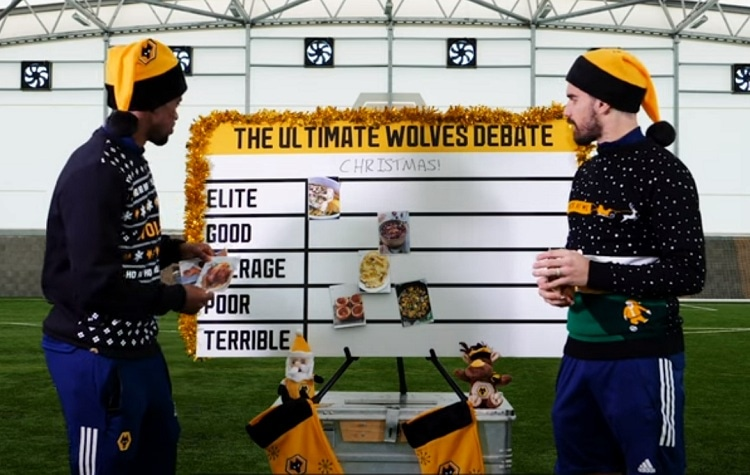"""Wolves defender Nelson Semedo and midfielder Ruben Neves in """"The Ultimate Wolves Christmas Debate"""" – Portugal edition (Video)"""